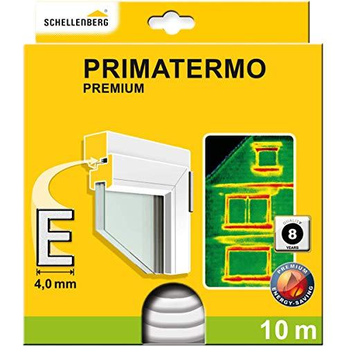 Schellenberg 66330 Weiß Dichtungsband selbstklebend 9 x 5 mm Gummidichtung Premium P-Form Fenster-Türdichtung, Gesamtlänge 6 m (2 Rollen je 3 m), 9x5mm x 6m