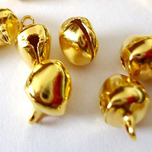 k2-accessories 50 pieces 8mm Gold Tone Jingle Bells - A0053