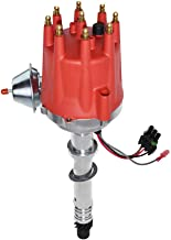 A-Team Performance Pro Billet Series Compatible with CHEVY GMC Chevrolet SBC BBC V8 327 350 396 454 Ready to Run Distributor with Fixed Collar R2R Red Cap
