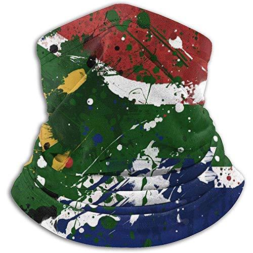 GWrix Zuid-Amerikaanse vlag nekwarmer Gamas bivakmuts skimasker koud weer gezichtsmasker winter hoed hoofddeksels voor mannen vrouwen zwart