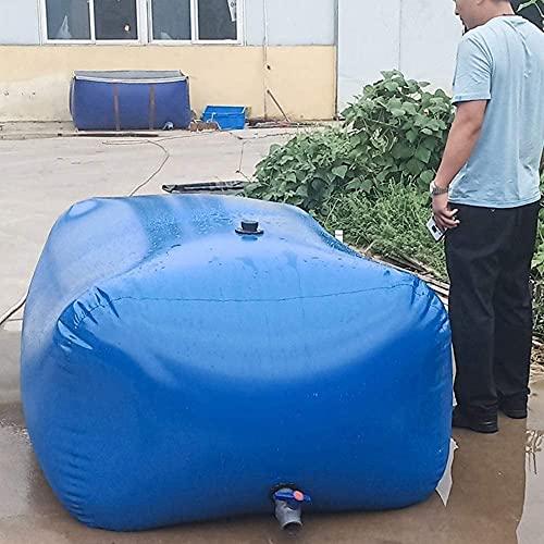 CXFRPU Notwasser-Container-Tasche, Druck Für Den Außensport Camping, Gartenbaubewässerung Faltbar Flexibler Wasseraufbewahrungstasche Mit Wasserhahn(Size:500L/1.5x0.9x0.4m)