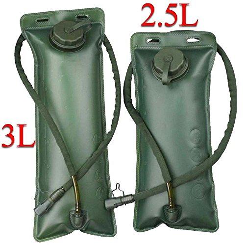 servoir de stockage pour l'eau 2,5 L,dos de survie militaire avec capuchon de valve et tube isol&eacute lo, le camping, la randonnée,vert olive