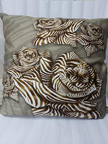 Roberto Cavalli Home Cuscino arredo Zebra Rose (40x40 cm) (Sand, 60x60 cm)