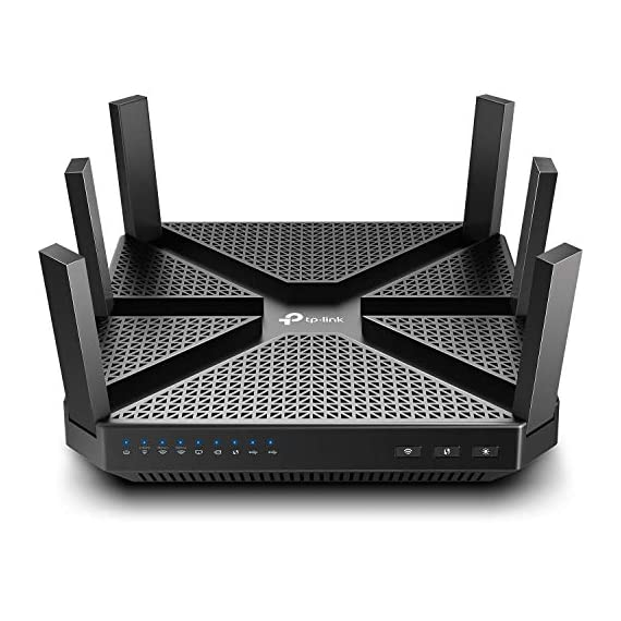 TP-Link AC4000 Smart WiFi Router - Tri Band Router , MU-MIMO, VPN Server, Antivirus/Parental Control, 1.8GHz CPU… 9 JD Power Award ---Highest in customer satisfaction for wireless routers 2017 and 2019 4K video, streaming, gaming is no problem for the A20 with incredible AC4000 tri band speeds Top of the line 1.8 GHz 64 Bit processing to smoothly process multiple requests and accelerate loading Times