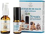 Les Fleurs de Bach pour Animaux BIO - Programme Complet - 1 Elixir + Spray d'ambiance - Stressés