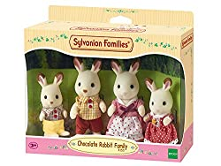 Chocolate Rabbit posable collectable figures Four piece set: Father, mother, brother and sister Dressed in removable fabric clothing Stimulating imaginative role-play in children Suitable for ages 3 years to 10 years