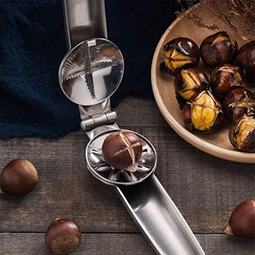 Protable Nutcracker Chestnut Clip,304 Stainless Steel Chestnut Cutter Tool Pistachio Nut Opener Macadamia Nut Knife,Walnut Opener,Metal Nut Opener Plier Multifunction Nutcracker