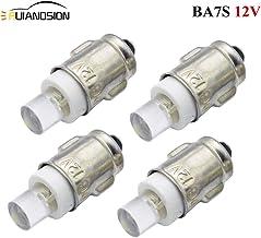 Ruiandsion - 4 bombillas LED BA7S F3 1 LED 12 V CC 50 LM blanco auto LED interior foco indicador de panel de instrumentos, luz de tierra negativa