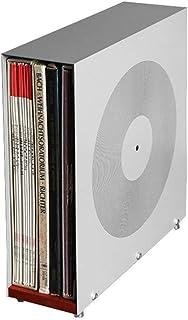 Soporte para almacenamiento de discos de vinilo, soporte de exhibición de madera maciza, soporte para 25 estante de almace...