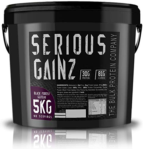The Bulk Protein Company 5 kg Black Forest Gateau Serious Gainz Mass Gainer Powder by The Bulk Protein Company