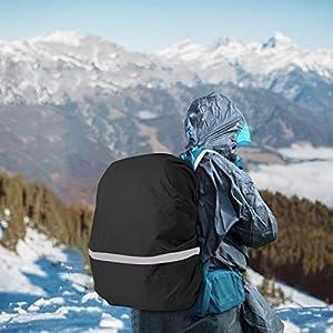 51v4BVS0vCL. SS300  - TAZEMAT Funda de Lluvia de Mochila Protector 3 Piezas Cubierta Impermeable para Mochila con Banda Reflectante Accesorio para Viaje Camping Senderismo Excursionismo Ciclismo S M L Amarillo Azul Negro