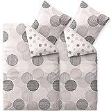 CelinaTex Touchme Bettwäsche 135 x 200 cm 4teilig Baumwolle Bettbezug Biber Filia Punkte weiß grau...