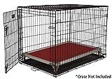 Kuranda All-Aluminum (Silver) Chewproof Dog Crate Bed - Large (40x25) - Vinyl - Smoke