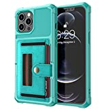LAHappy Estuche Billetera Funda para iPhone 12 Pro MAX, Funda de PU Cuero con Ranura para Tarjeta Anti-Choque Protección Cáscara para iPhone 12 Pro MAX,Verde