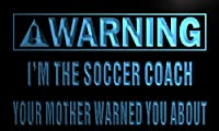 Multi Color n008-c Warning I'm the Soccer Coach Neon LED Sign with Remote Control, 20 Colors, 19 Dynamic Modes, Speed & Brightness Adjustable, Demo Mode, Auto Save Function