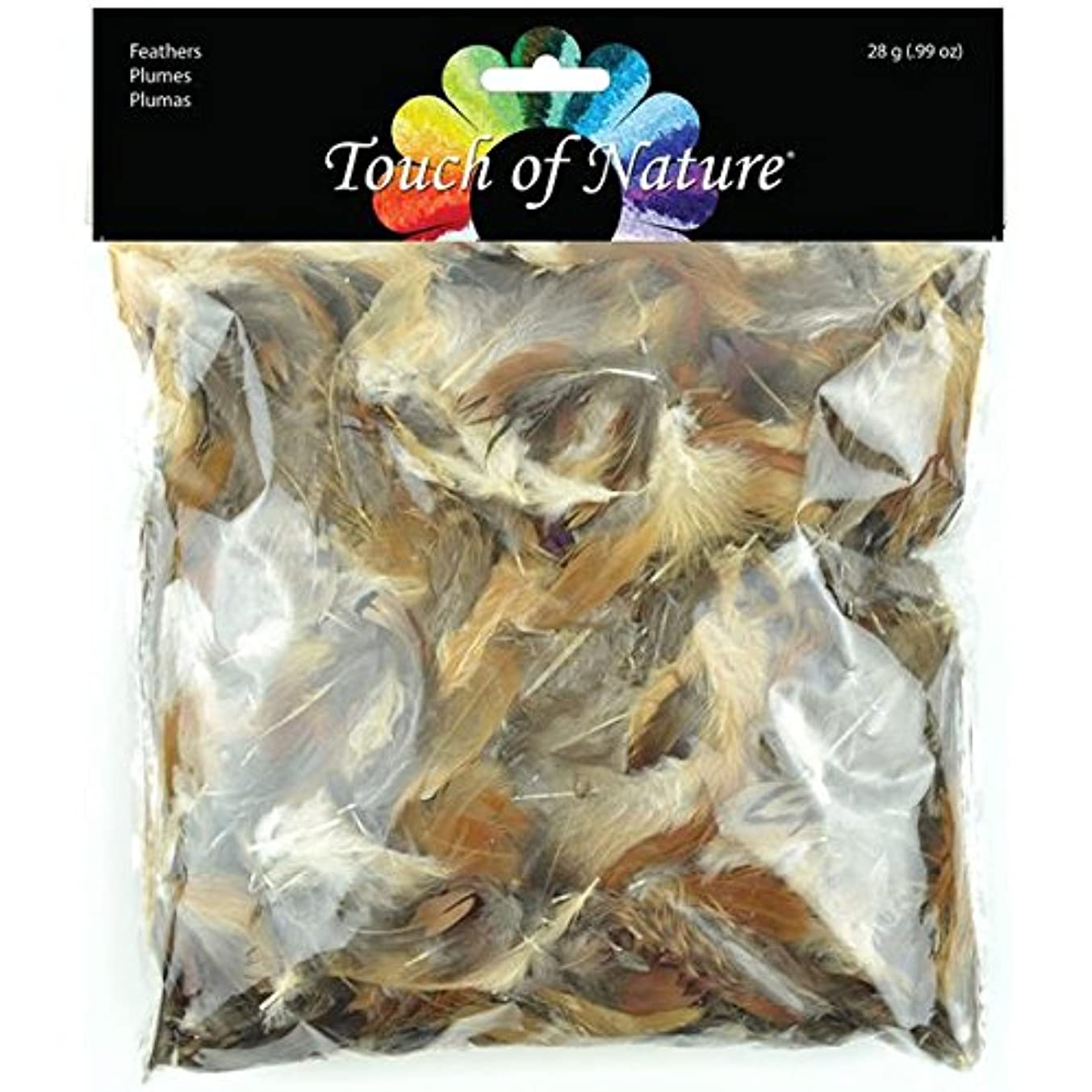 Touch of Nature 39917 Feather Value Pack Natural Mix for Arts and Craft, 28gm