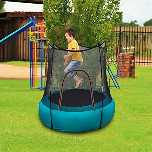 Baby Trampoline For 2-8 Year Old,Folding Portable Trampoline With Net Enclosure, Inflatable Jumping Training Mat