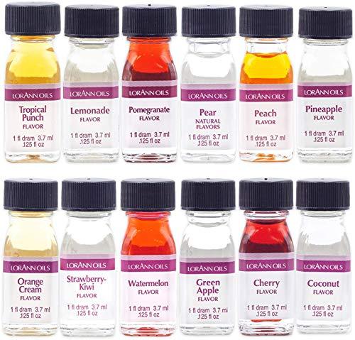 LorAnn Super Strength Pack #2 of 12 Fruity & more Flavors in 1 dram bottles (.0125 fl oz - 3.7ml) bottles