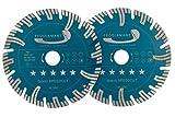 Set de dos piezas PRODIAMANT Premium Diamante Cortamuros Disco cortador SUPER SPEED CUT Hormigón 150mm x 22,2mm PDX83.014