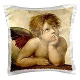 3dRose pc_159993_1 Raphael - Angel Right Pillow Case, 16' x 16'