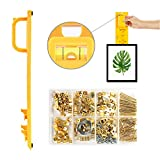 Picture Hanging Kit, Picture Frame Hanger Tool, 220 Pieces Heavy Duty Photo Hanger Accessories with...