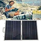 HMLIGHT Panel Solar Plegable 40W 12V pequeña batería Solar de silicio policristalino Paneles Solares Sets Kits Placas de Calle Impermeables