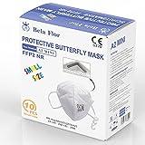 AUPROTEC 10 Stück FFP2 Maske Mini Größe XS Atemschutzmaske EU CE 0370 Zertifiziert EN149:2001+A1:2009 Mundschutz 4 lagig mit innen liegendem Vlies einzeln verpackt