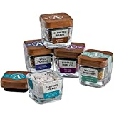 Artisan Salt Naturally Flavored Gourmet Salt Sampler Gift Set, 5 Varieties (3oz Net Wt), Black Truffle, Merlot, Espresso, Rosemary, Porcini