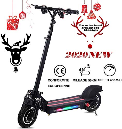 Elementral Lamtwheel Electric Scooter, Foldable E Scooter, 1200 watt, brushless Motor – 40-50 km/H and 50-60 km Range with Off-Road Tyres, 48 V/22 Ah E Scooter for Adults