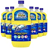 Fabuloso Antibacterial All Purpose Cleaner, Floor Cleaner, Kitchen Clean, Bathroom Cleaner, Sparkling Citrus - 288oz Total (48oz | Case of 6)