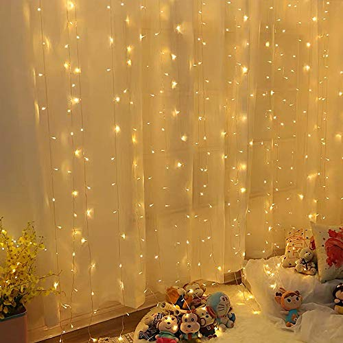 Guirlande Lumineuse Rideau 300 LED Rideau Lumineux 3M*3M 8...