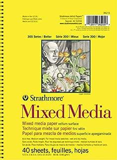 Strathmore (362-5) 300 Side Spiral Binding Acid-Free Medium-Weight Mixed Media Pad, 5.5