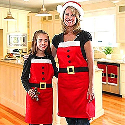 Zojoro Christmas Decoration Santa Apron,Morecome Home Kitchen Cooking Baking Chef Apron