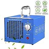 TYQIAO Generador de ozono Profesional,3.5 a 7g / h Temporizador Ajustable generador de ozono purificador de Aire automóvil, Reducir el Olor, Azul