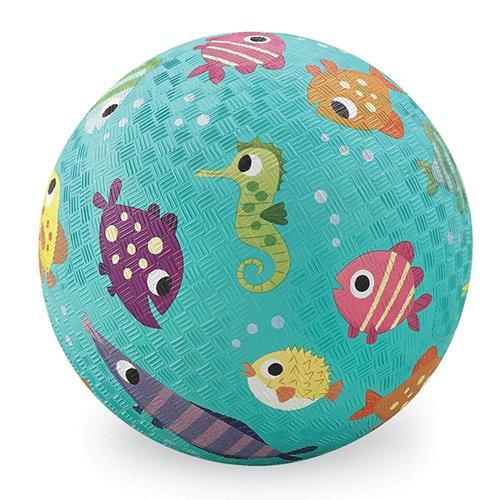 Crocodile Creek Fisch Spielplatz Ball, Blaugrün, 12,7cm