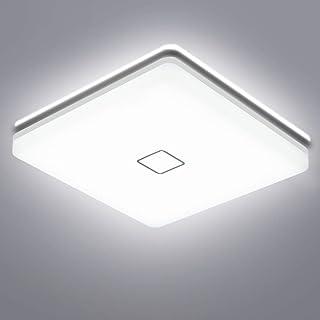 LED Lámpara de Techo, Öuesen 24W 5000K Plafon Led de Techo Lampara Techo Dormitorio IP44 lampara techo Blanco frío 2050LM lampara led para Baño Cocina Dormitorio Balcón Corredor Oficina Comedor
