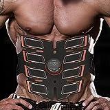 Electroestimulador Muscular, Ems Parche Muscular Abdominal Cinturón Muscular Equipo De Ejercicios Para Hombres Electroestimulador Muscular Abdominales Para Electroestimuladores Del Vientre(Naranja)