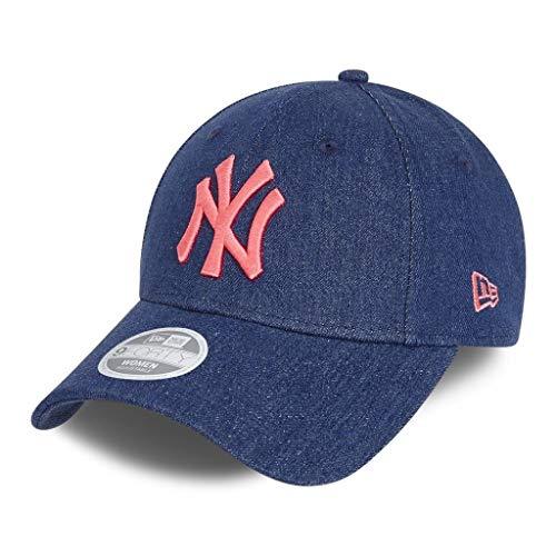 New Era New York Yankees Cap MLB Basecap Washed Denim Kappe Baseball Damen Blau - One-Size