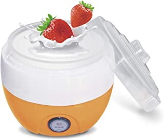 ECSWP Automatic Yogurt Maker Machine Glass Greek Jars Customize To Your Flavor And Thickness (Color : Orange)