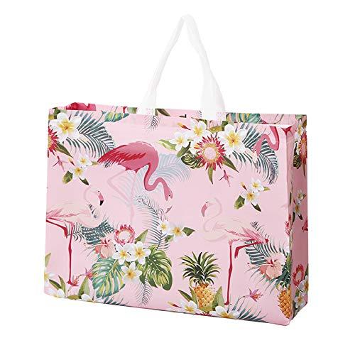 JEJA Grandes Bolsas De Fiesta Pequeñas No Tejidas, Bolsas De Regalo De Flamencos, Bolsas De Supermercado Reutilizables, Bolsas Artesanales Para Eventos Festivos, Para Fiestas De (Flamingo,20PCS)