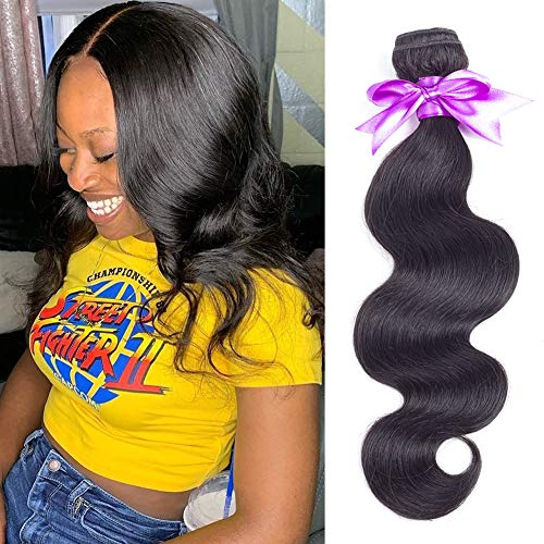 Brazilian Body Wave Bundles 12inch 8A Unprocessed Brazilian Virgin Human Hair Weave Weft Bundles Natural Black Color 100g/bundle