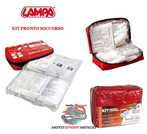 KIT Pronto BICI Motorrad LAMPA 66961 First AID Norma Europea DIN 13167-2014 ABMESSUNGEN 50X160X120 MM