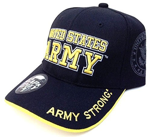 Cap & City US Army Strong Licensed Seal Military Black Hat Cap by