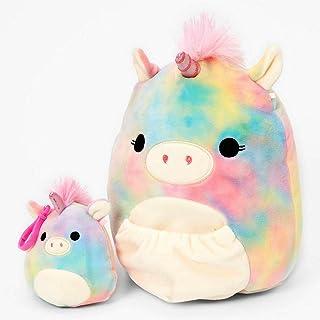 "Squishmallow Official Kellytoy Plush 9"" Mom Esmeralda The Rainbow Unicorn and Baby Clip on - Ultrasoft Stuffed Animal Plus..."