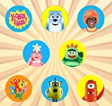 Yo Gabba Gabba Set of 8 - 1 Inch Pinback Buttons