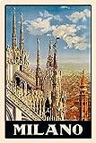 Cartel de metal, 20 x 30 cm, diseño de Milano Milano