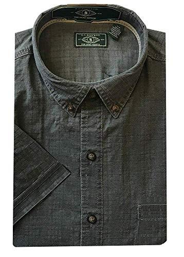 G.H. Bass & Co. Men's Short Sleeve Woven Shirt (XL, Forged Iron)