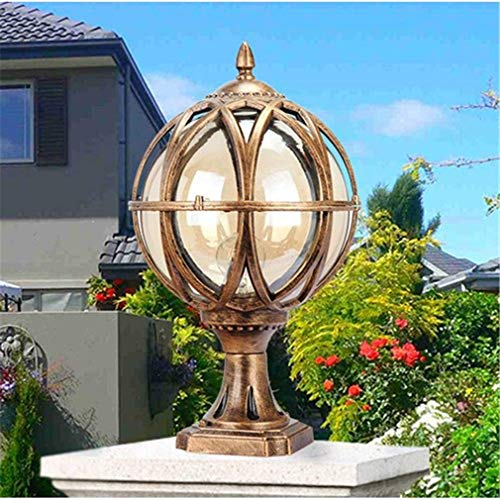 XXLYY Post Lantern Light, Outdoor Waterproof Patio Door Column Lamp, Decoration Pillar Light for Courtyard Villa Swimming Pool,32cm