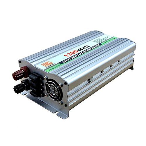 BQ Convertisseur @ Power Inverter DC 12V à 220V AC Convertisseur de voiture avec adaptateur allume-cigare 1200W