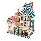 SUPVOX Rompecabezas de la casa de Madera 3D Modelo Rompecabezas de Madera 3D Rompecabezas 3D DIY Puzzle Toy iq Juego para niños y niñas